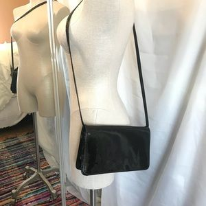 Vintage Patent Leather Cross Body Going Out Bag